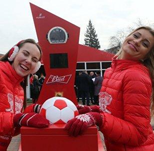 Due ragazze immagine dei Mondiali 2018 in Russia