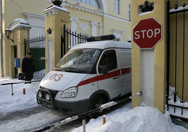 Ambulanza nell'ospedale militare Burdenko