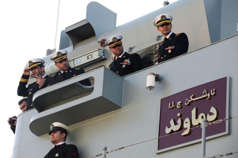 Navi iraniane nel porto di Makhachkala