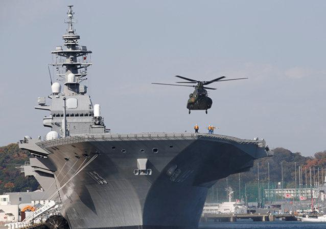 """Il cacciatorpediniere portaelicotteri giapponese """"Izumo"""""""