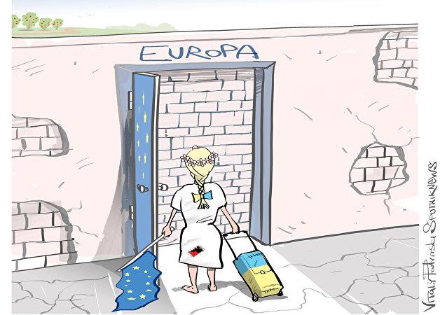 """L`ingresso libero  nei paesi dell`UE  vedranno solo """"le altre generazioni""""  di ucraini."""