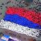 Gli studenti hanno realizzato e issato una gigantesca bandiera russa a Sebastopoli.
