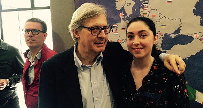 Vittorio Sgarbi e Tatiana Santi