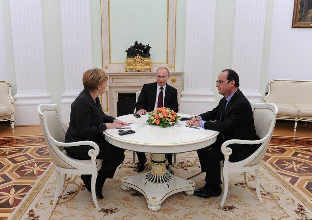 Putin, Holland, Merkel