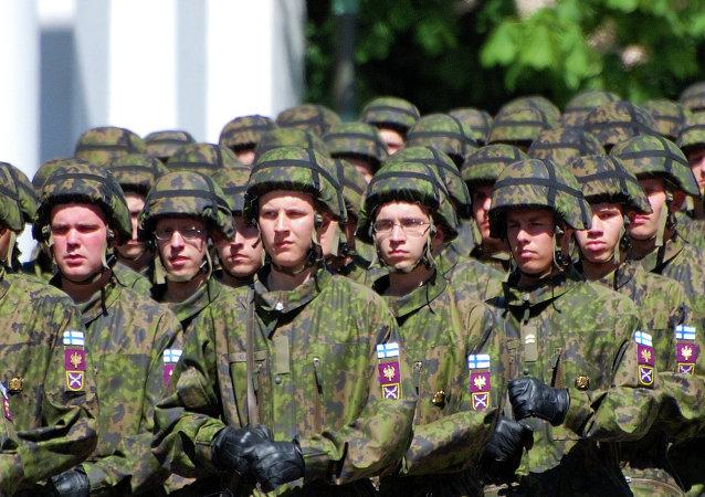 Soldati finlandesi (foto d'archivio)