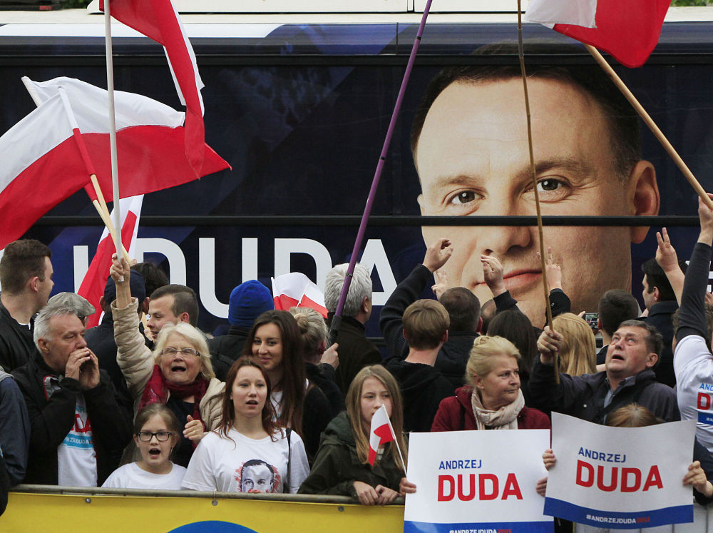 Candidato alle presidenziali in Polonia Andrzej Duda