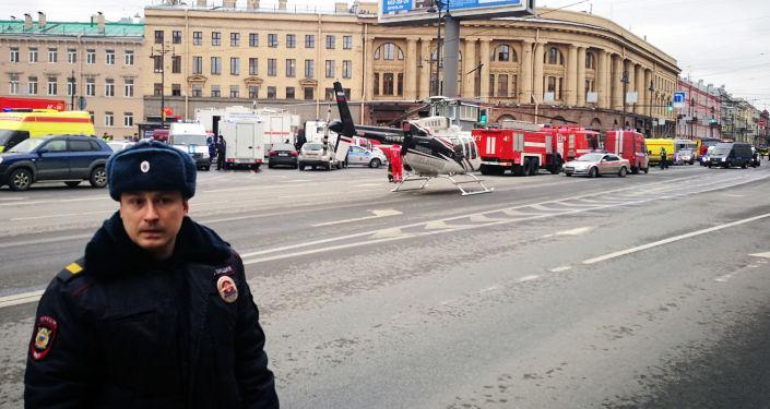Poliziotto a San Pietroburgo