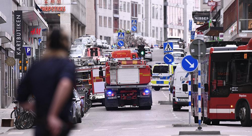 Il luogo dove si è verificato l'incidente nel centro di Stoccolma