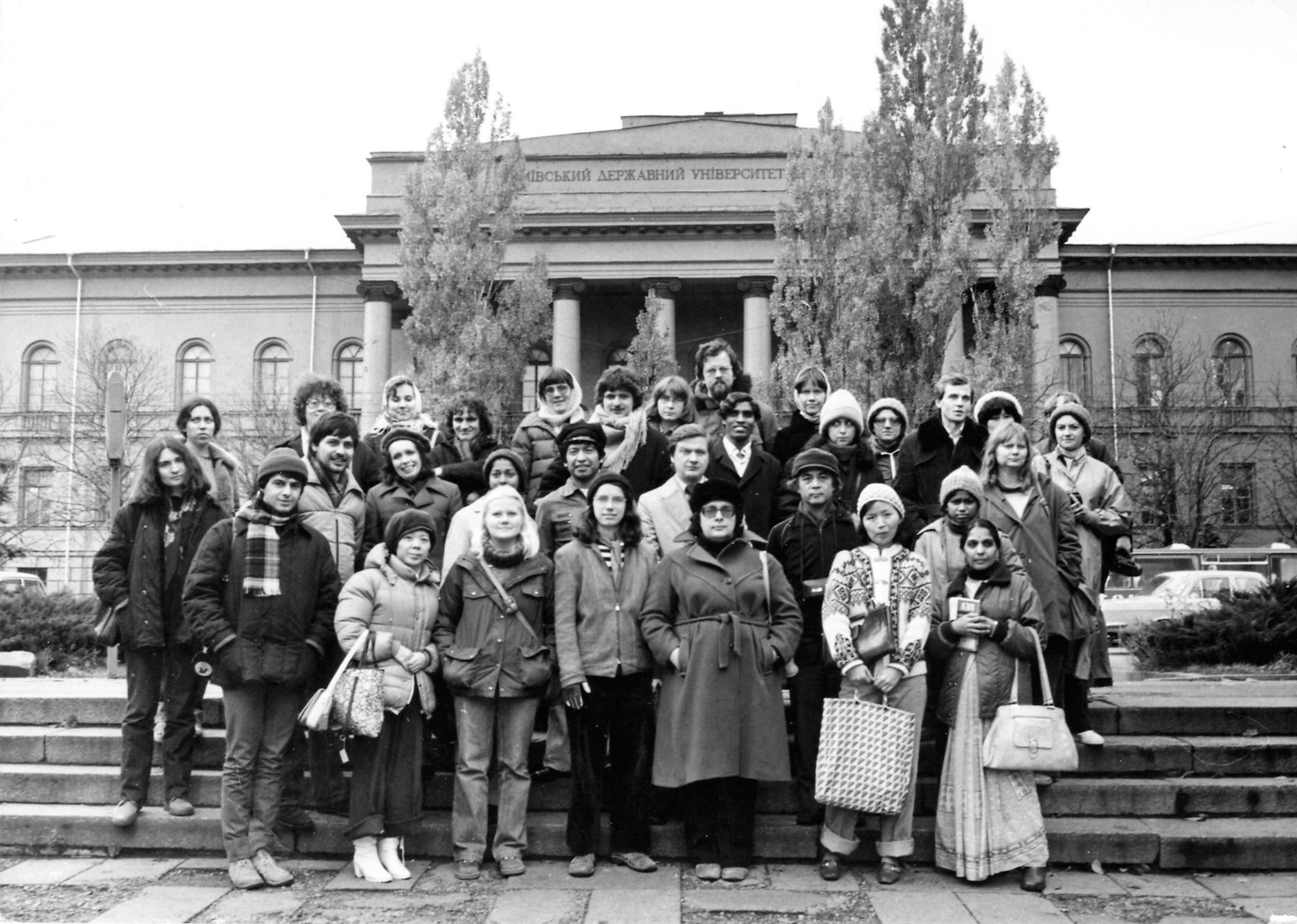 Il gruppo di studenti stranieri a Kiev