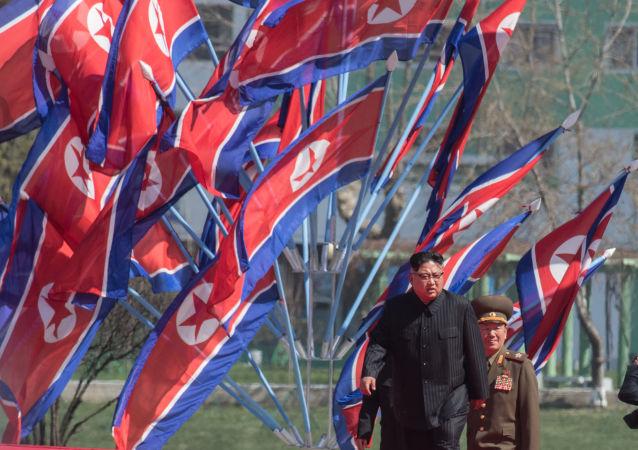 Leader della Corea del Nord Kim Jong-un a Pyongyang