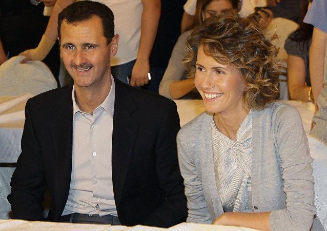 Coniugi Assad (foto d'archivio)