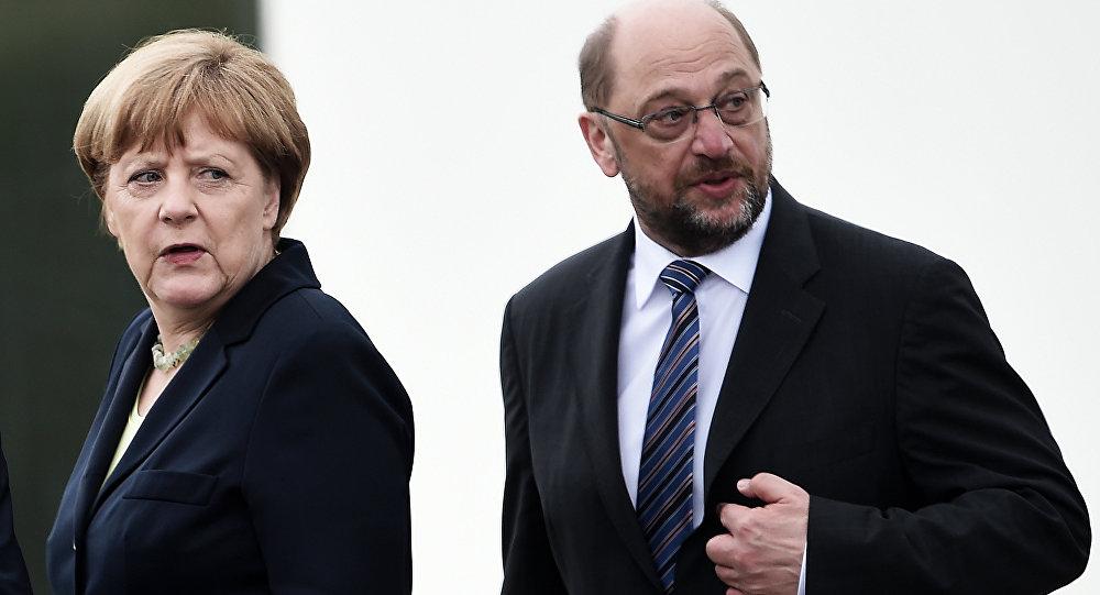 Angela Merkel e Martin Schulz