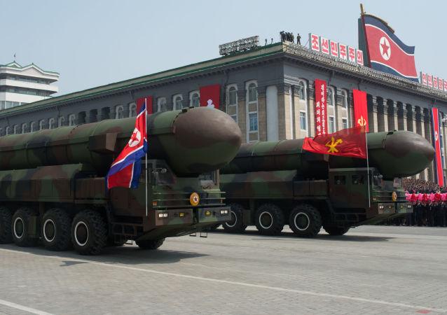 Missili alla parata militare di Pyongyang di quest'anno
