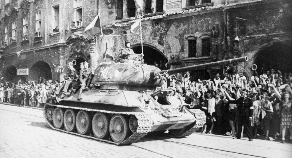 Liberazione di Praga, il carro armato T-34