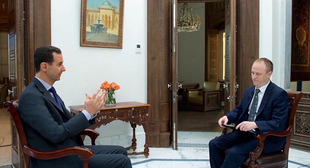 Assad intervistato da Sputnik
