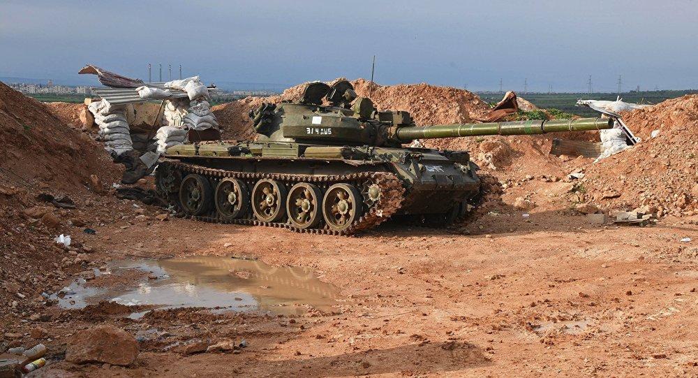 Carro armato dell'esercito siriano