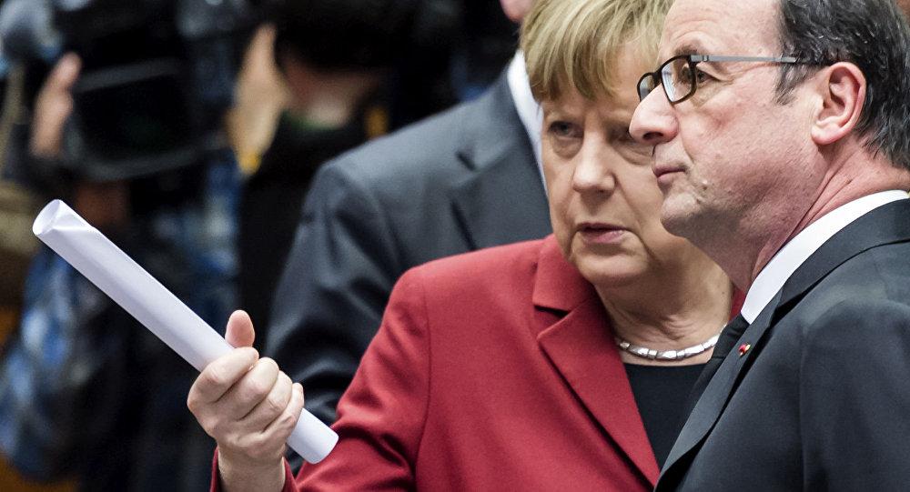 Angela Merkel e Francois Hollande
