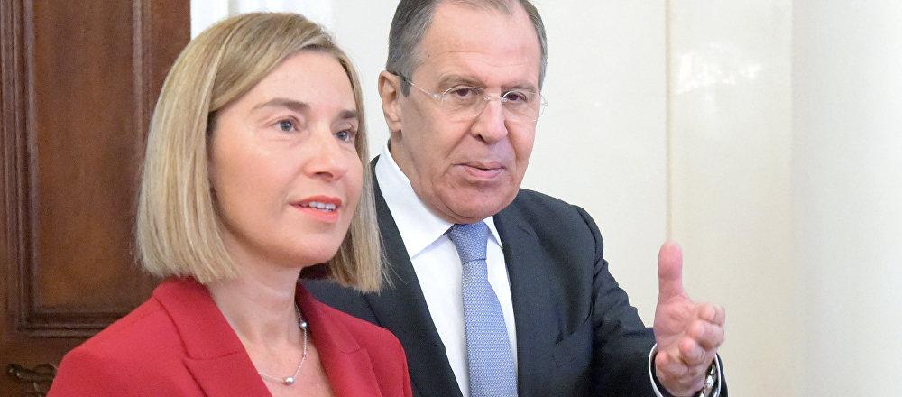 Incontro tra Sergei Lavrov e Federica Mogherini