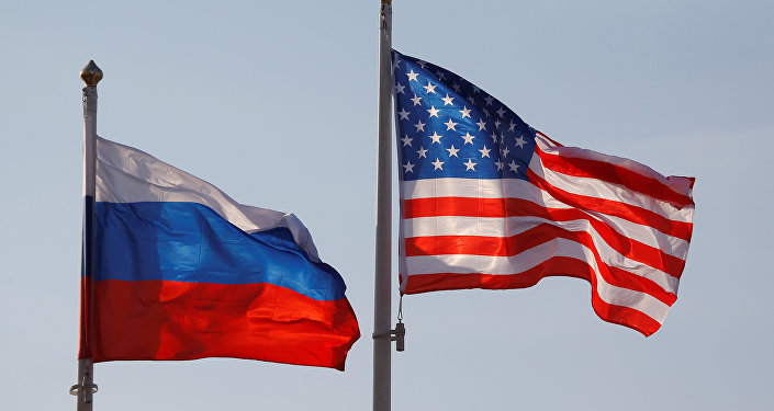 Bandiere di Russia ed USA