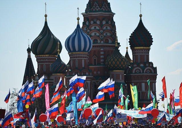 Manifestazioni del 1° maggio sulla Piazza Rossa a Mosca (foto d'archivio)