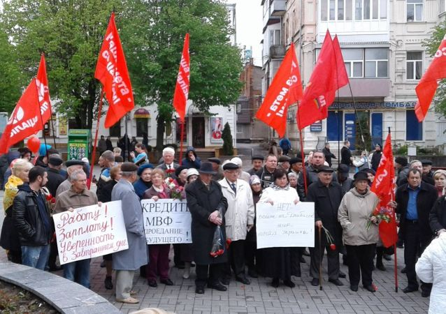 Manifestazione del Primo Maggio a Vinnitsa