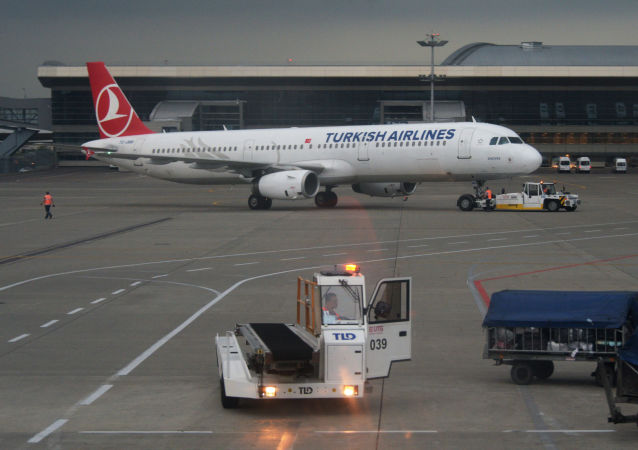 Aereo Turkish Airlines all'aeroporto Vnukovo di Mosca