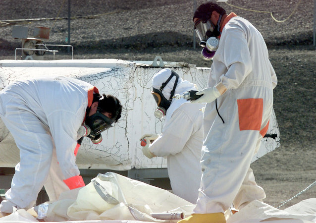 Lavoratori del centro di stoccaggio di materiali radioattivi di Hanford (USA)