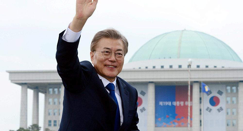 Il presidente eletto della Corea del Sud, Moon Jae-in
