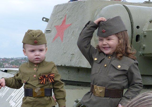 Donetsk, il Giorno della Vittoria