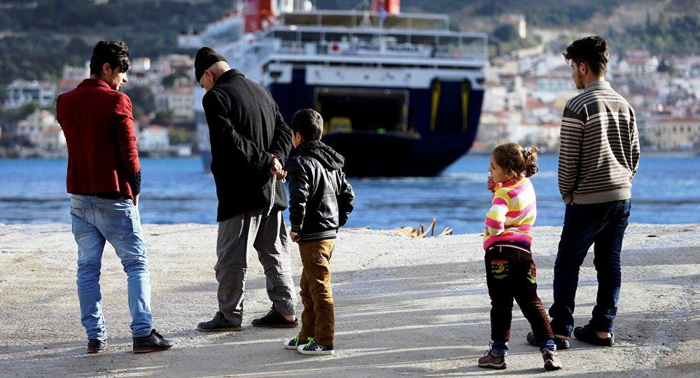 Migranti sulle coste del mar Mediterraneo