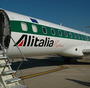 Un aereo dell'Alitalia.
