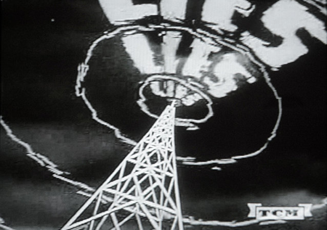 Stills from a U.S. anti-communist propaganda film from the fifties