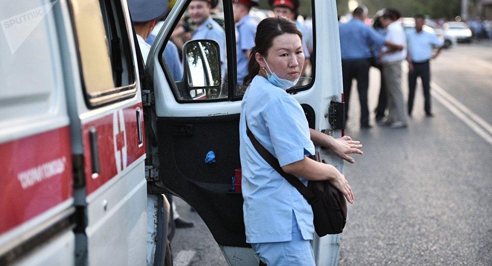 Un paramedico in Kyrghizistan.