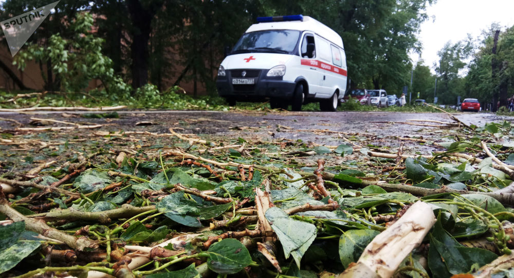 Dopo l'uragano a Mosca.
