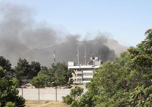 L'attentato suicida a Kabul, Afghanistan.(foto d'archivio)