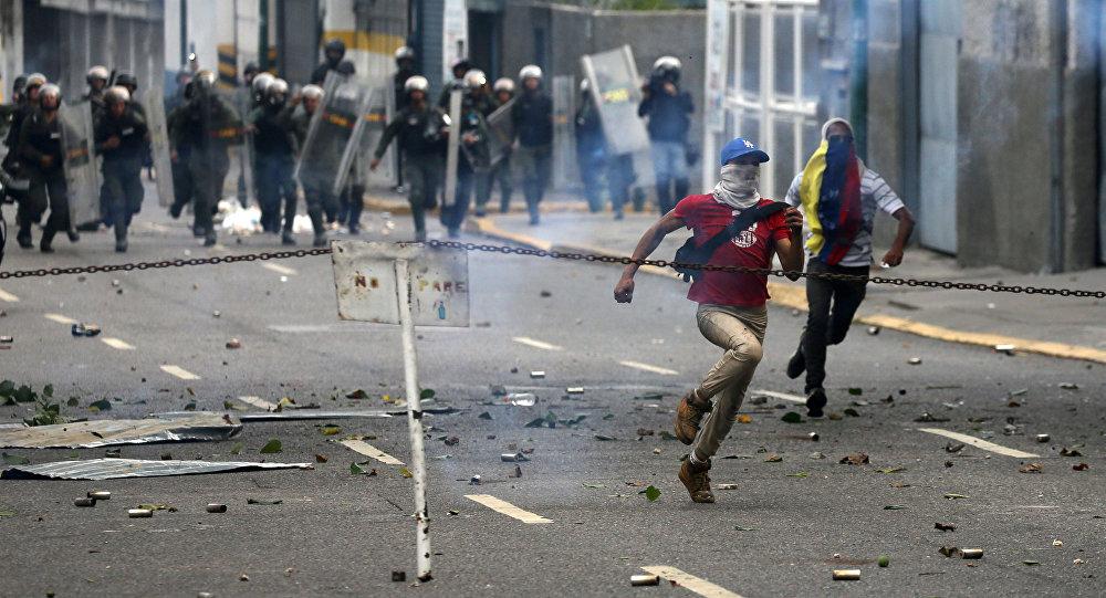 Proteste contro il governo del presidente del Venezuela Nicolas Maduro, Caracas