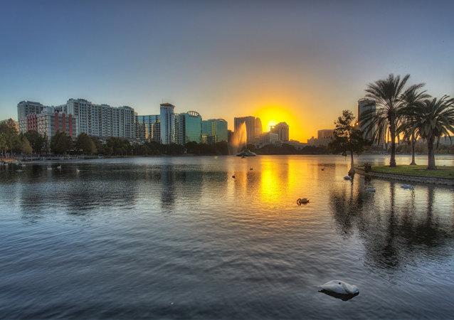 Lake Eola Sunset, Orlando, Florida