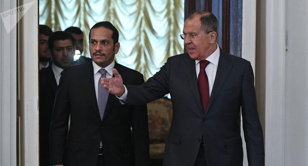 Ministri degli Esteri di Qatar e Russia a Mosca