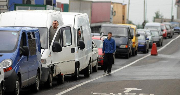 Code al confine tra Polonia e Ucraina