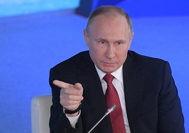 Presidente russo Vladimir Putin
