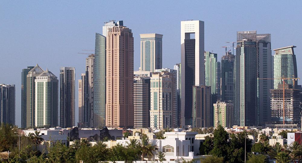 Una vista di Doha, Qatar