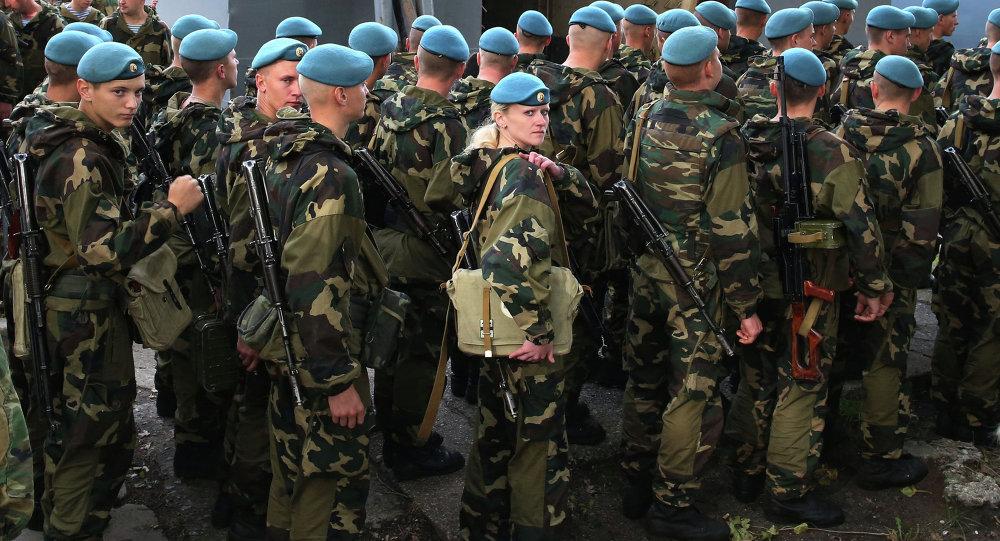 I parà bielorussi arrivano per le esercitazioni Zapad. (foto d'archivio)
