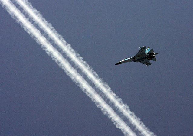 The Baltic Fleet Su-27 fighter squadron