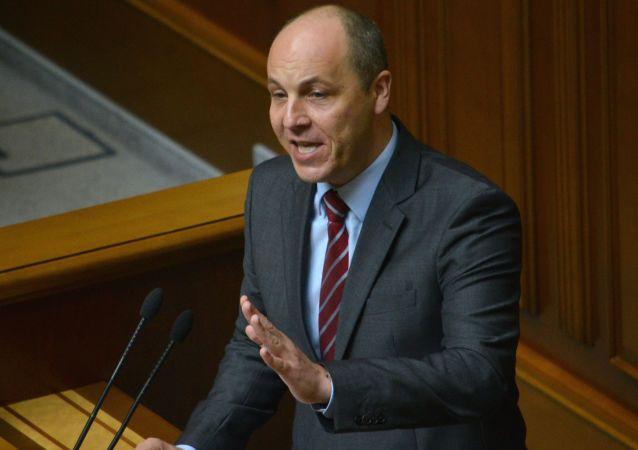 Presidente del Parlamento ucraino Andriy Paruby