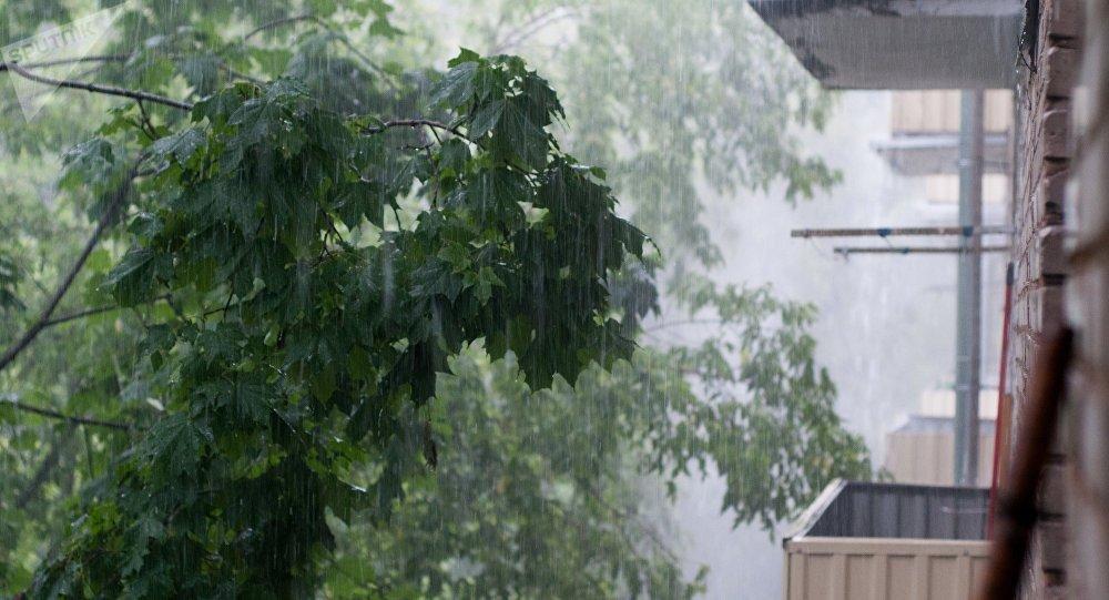 Mosca colpita da una forte tempesta (foto d'archivio)