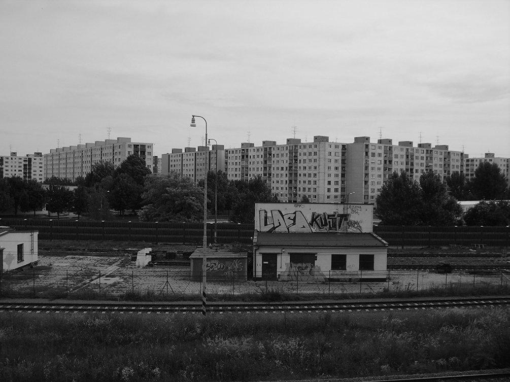 Casermoni della periferia di Varsavia