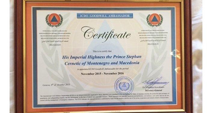 Certificato emesso a Stefan Cernetic
