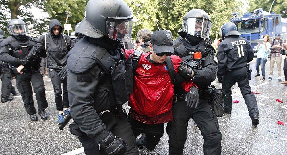 Proteste ad Amburgo durante il vertice G20 ad Amburgo