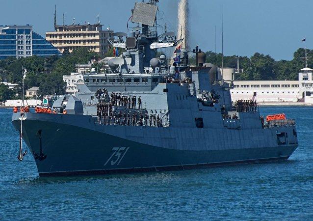 La fregata russa della flotta del Mar Nero Ammiraglio Essen.