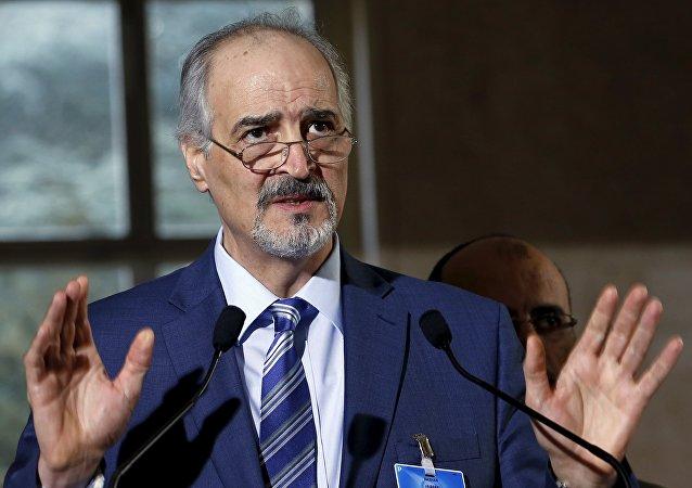 Capo della delegazione di Damasco, l'ambasciatore all'ONU Bashar Jaafari